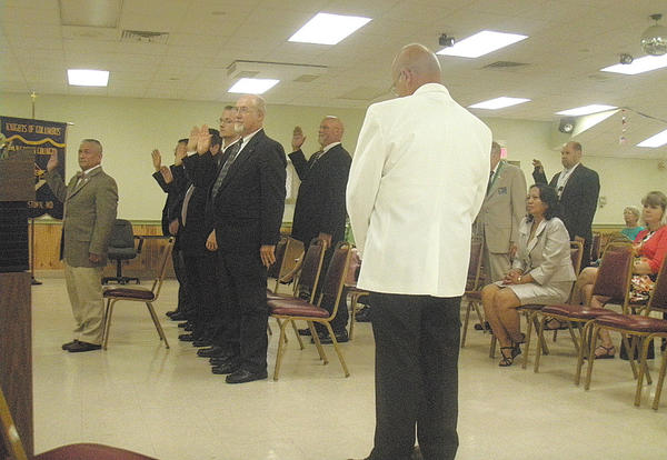 An installation Mass was held July 15 to install the new officers of Knights of Columbus, Pangborn Council 1365 in Hagerstown.