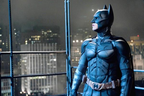 "Christian Bale is Batman in ""The Dark Knight Rises."""