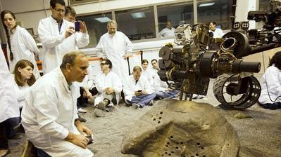 Mars rover is a robot geologist with a lab in its belly