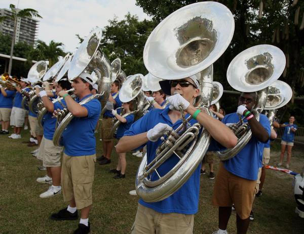 UF Band plays at Jungle Island.