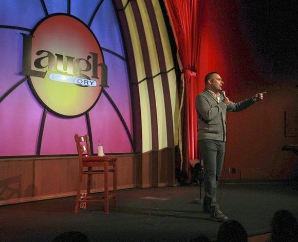 Comic Russell Peters is the first headliner at the Laugh Factory on Broadway in Chicago.