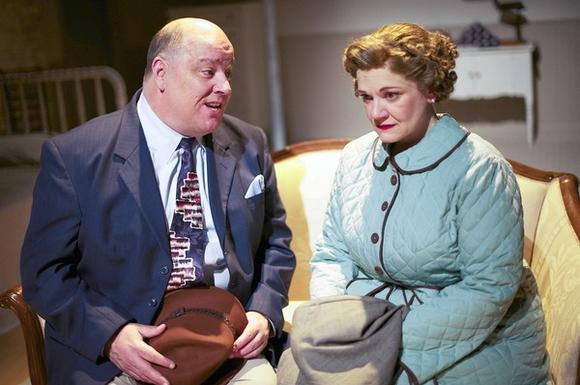 "Jerry O' Boyle and Rebecca Finnegan in Porchlight Music Theatre's ""A Catered Affair."""