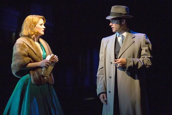 "Kelli O'Hara and Steven Pasquale in a scene from ""'Far From Heaven"" at Williamstown Theatre Festival."