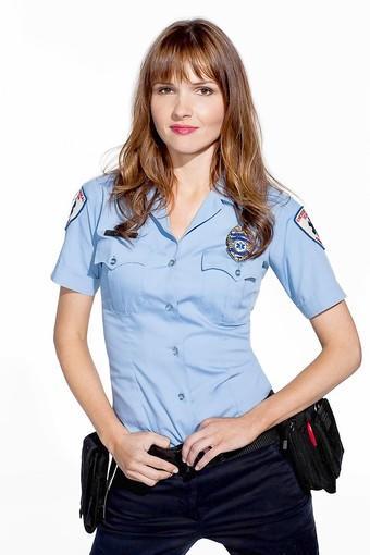 "Valerie Azlynn plays Melanie, a paramedic, in ""Sullivan & Son."""