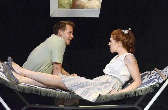 "Nick Horst and Margaret Katch in ""The American Plan"" by Artistic Home at Stage 773 in Chicago."