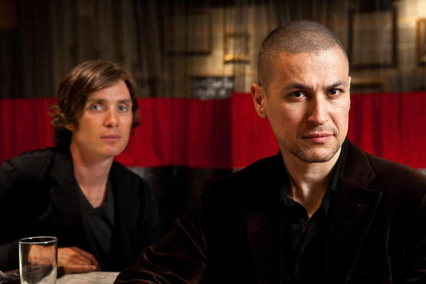 "Actor Cillian Murphy, left, and director Rodrigo Cortes in Chicago promoting their new movie ""Red LIghts."""