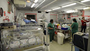 Premature birth ward at a hospital
