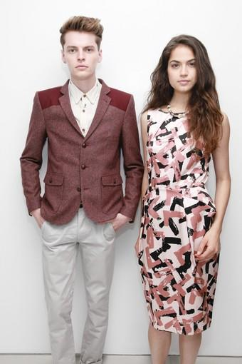 Two looks from Topshop at Nordstrom.