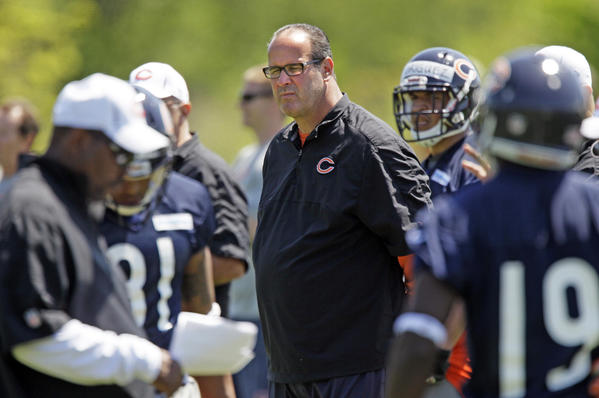 Mike Tice is making the transition from offensive line coach to offensive coordinator for the Bears.