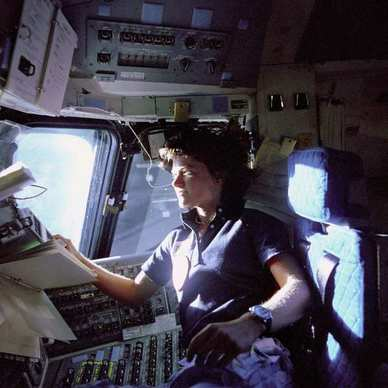 Sally Ride became the fi