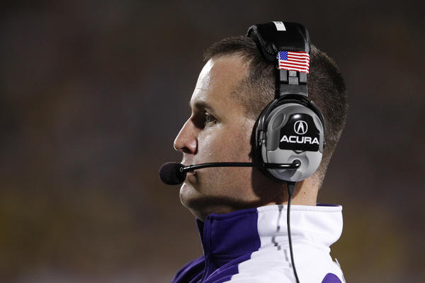 Northwestern coach Pat Fitzgerald said the NCAA penalties against Penn State sent a strong message.