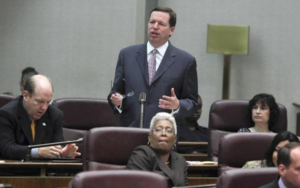 Chicago Ald. Joe Moore, seen last month, was a frequent critic of former Mayor Richard Daley. He has not challenged a major initiative supported by Mayor Rahm Emanuel.