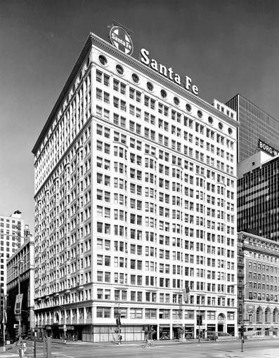 The Santa Fe sign once adorned the Railway Exchange Building at 224 S. Michigan Ave., Chicago.