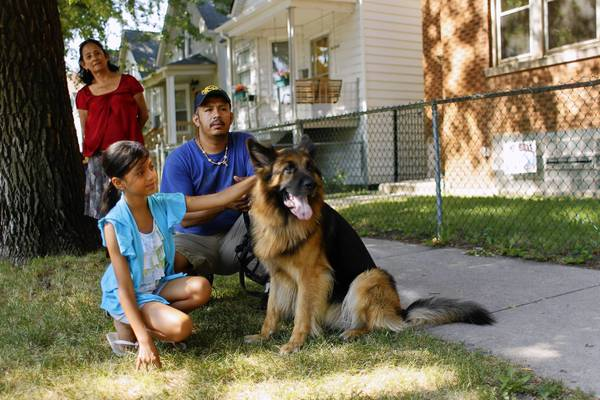 For five years, Juan Diaz, 36, members of his family and his dog lived in a three-flat in Chicago's Albany Park neighborhood. Last fall, a community group representative told him the building was in foreclosure. In April, they moved a block away to another apartment.