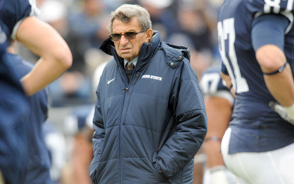 Penn State Nittany Lions coach Joe Paterno before a 2010 game.