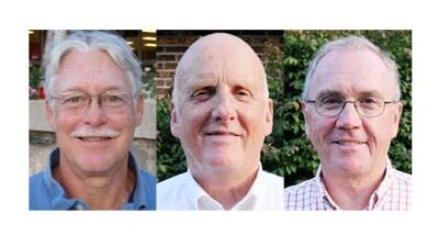 From left: Petoskey 2nd Ward city council candidate John Murphy, 4th Ward candidates Ron Marshall (incumbent) and Jeremy Wills.