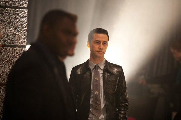 "Joseph Gordon-Levitt portrays a time-traveling hit man in ""Looper,"" director Rian Johnson's film that will open the Toronto Film Festival on Sept. 6."