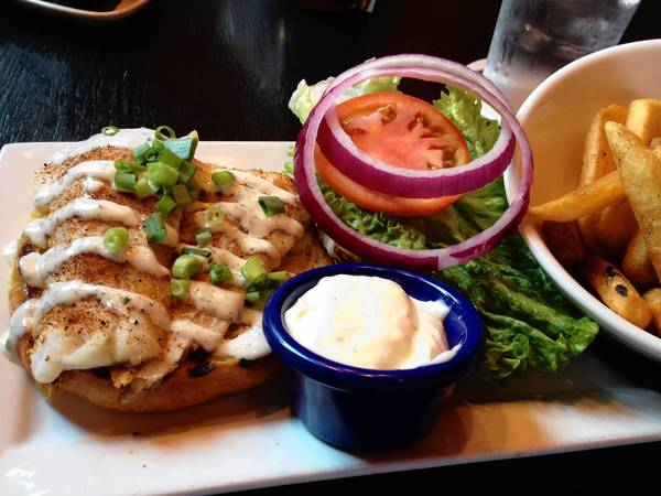 Broiled haddock sandwich at Park Lane Tavern