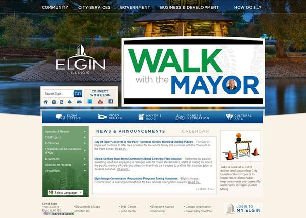 Elgin's new website will go live on July 25.
