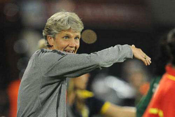 U.S. women's soccer coach Pia Sundhage said the lack of interest in early-round matches at the Olympics reflects poorly on the sport.