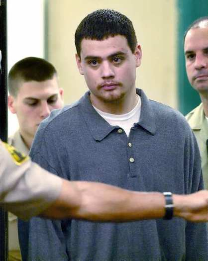 David Garcia in a Pasadena courtroom for his arraignment on Dec. 23, 2003.