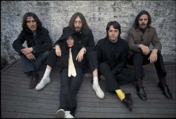 "The Beatles, shown with Yoko Ono in 1969, have a new compilation album out on iTunes, ""Tomorrow Never Knows."""