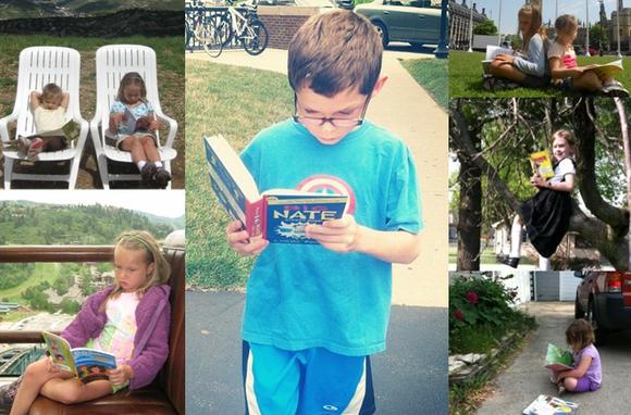 Chicago Tribune readers sent in pictures of their kids reading this summer.