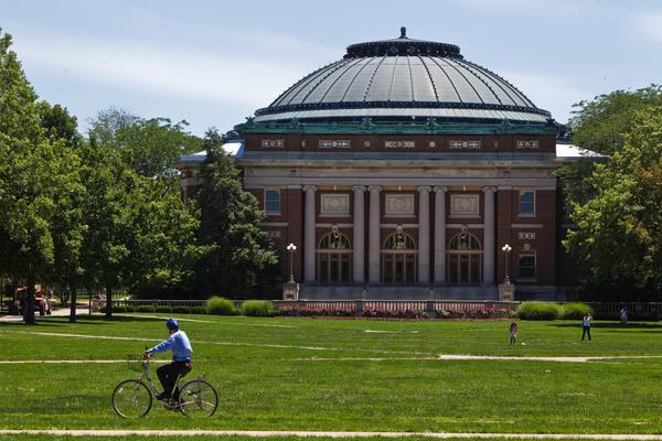 The Main Quad at the University of Illinois in Urbana-Champaign.