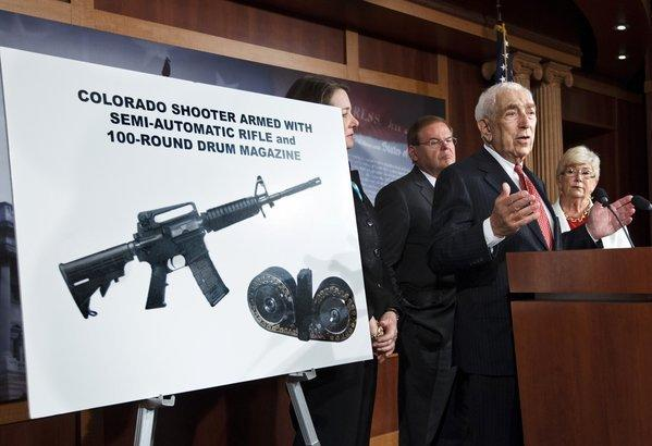 Sen. Frank R. Lautenberg (D-N.J.) speaks at a news conference in Washington to criticize the sale of high-capacity magazines for assault rifles.