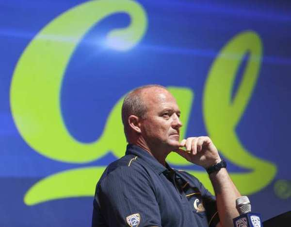 Cal Coach Jeff Tedford at Pac-12 media day on Tuesday.