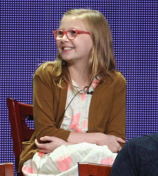 Overheard at 2012 Summer TV Press Tour: She secretly writes every episode. -- executive producer Dante Di Loreto on Bebe Wood, the very mature young star.
