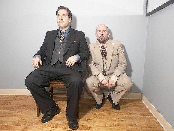 "Andy Hager (left) and Trey Maclin in ""The Dumb Waiter."""