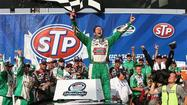 Elliott Sadler went from sick to stupendous, rallying late to capture Sunday's STP 300 NASCAR Nationwide Series race at Chicagoland Speedway.