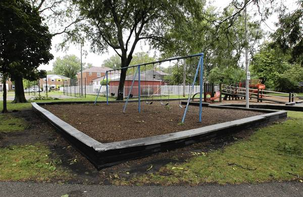 Though Merrill Park has become dangerous, it's also a common meeting space partly because of its central location, recreational features and large fields, neighbors said.