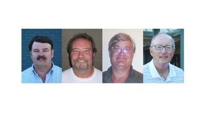 From left: Joe Hoffman Jr., Donald Nowland, Jonathan Scheel, Jim Scollin