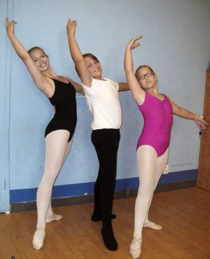 The Briggs family, from left, Elizabeth, Layton and Haley, dance students at the Red Chair School of Performing Arts, were all accepted into ballet intensive programs this summer.