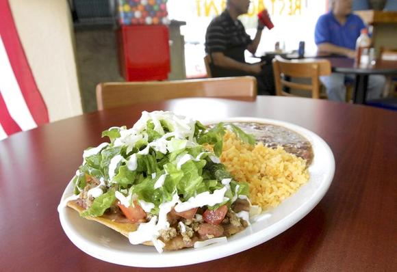 The Tostada Lunch Special from Antojitos Express