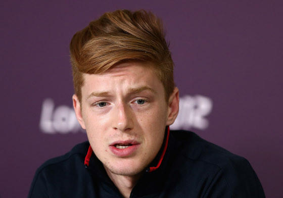 Race Imboden talking to media Wednesday in London.