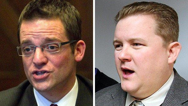 Ald. Joe Moreno, left, 1st Ward; and David Smith, executive director of the Illinois Family Institute.
