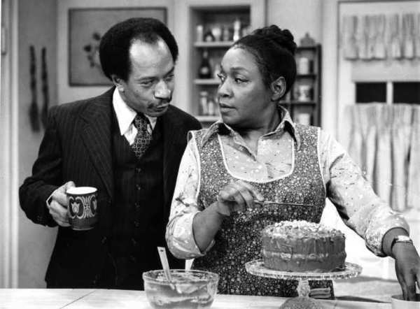 "Sherman Hemsley and Isabel Sanford in the TV sitcom ""The Jeffersons."""