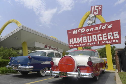 "The nostalgia factor is off the charts at this golden-arches time capsule. The museum is a re-creation of the first restaurant opened by McDonald's Corp. founder Ray Kroc in Des Plaines on April 15, 1955. The original building, demolished in 1984, was rebuilt to original blueprint specifications. It's a testament to humble beginnings. The original iconic ""Speedee"" road sign out front proclaims, ""Over one million served."" Inside the building, two male mannequins (in its day, eight-to-10 employees worked the floor) are poised to take an order. The original 10-item menu is a Ron Swanson fever dream: Burgers, fries, milkshakes and soft drinks. Look closely to see the peelers used on fresh potatoes that were sliced into fries on the premises. ""People bring their children and grandchildren here and tell them, 'This is how McDonalds was when I was growing up,'"" said Mike Bullington, company historian and archivist. You want fries with that? There's a thoroughly modern McDonald's across the street. It also offers salads. <br><br> Open 10:30 a.m.-2 p.m. Thursday and Friday, until 4 p.m. Saturday, though Labor Day; 400 N. Lee St., Des Plaines; free, 847-297-5022 and aboutmcdonalds.com"