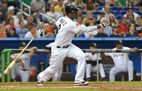 Hanley Ramirez with the Marlins earlier this season.