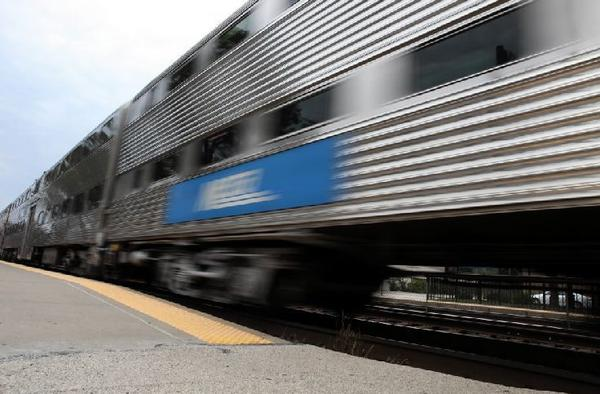 A Metra train arrives in La Grange. The western suburb was named a commuter-friendly town in a new study from DePaul University.
