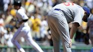 PITTSBURGH -- A crazy week for Ryan Dempster ended Wednesday with a 3-2 loss to Pittsburgh and a dugout tirade after being removed from the game after six innings.