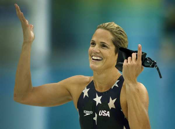 Dara Torres won three silver medals at the 2008 Beijing Olympics. At 41, she was the oldest swimmer to ever compete in the Olympics. Torres has participated in five Olympic games and has four gold medals.