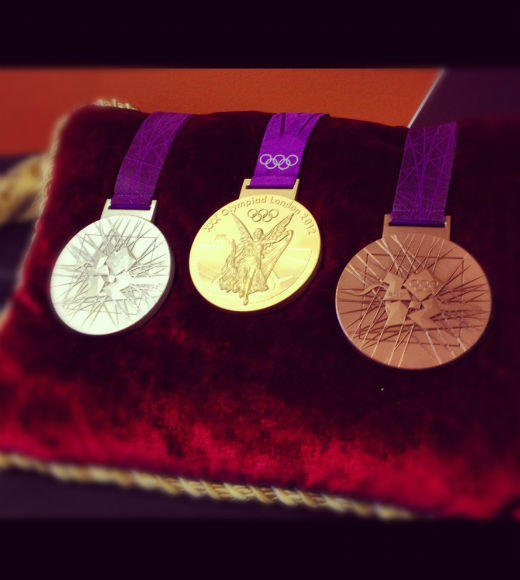 London 2012: Stunning mobile uploads from the Summer Olympics: Dont they SHINE? What do you think of the medals for the 2012 #Olympics? --@NBCOolympics
