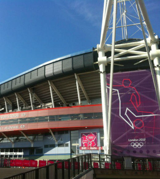 London 2012: Stunning mobile uploads from the Summer Olympics: Cardiff ready for 1st event of Olympics, GBvNZ, probably the biggest game of womens football the countrys ever seen --@danroan