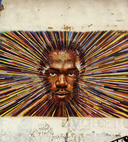 London 2012: Stunning mobile uploads from the Summer Olympics: Glorious Usain Bolt mural in east London #Olympics --@kjalee