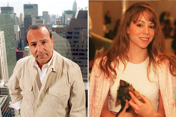 "After hearing Mariah Carey's demo, Sony Music' executive Tommy Mottola, left, helped launch Carey''s career. The two went on to marry. Rumor has it that at their wedding, it took six women to carry the monstrous train of Carey''s gown. The couple would split in 1998.  <br> <strong>MORE:</strong> <a href=""http://articles.latimes.com/1990-08-10/entertainment/ca-395_1_mariah-carey"">'Mariah' Climbs the Chart</a>"