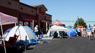 Chick-fil-A parking lot turns campground for Forest Hill's grand opening